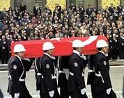 an Official funeral ceremony