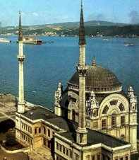 Dolmabahce Mosque on the Bosphorus