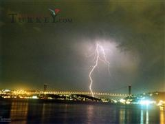 Thunderstorm in Istanbul