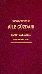 Turkish certificate of marriage