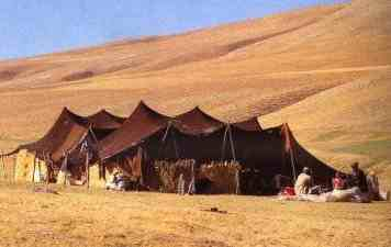 Nomad tents on the mountains in Turkey