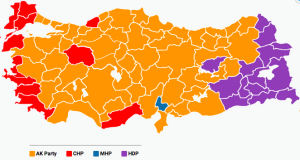 provinces won by political parties during the elections of June 2015